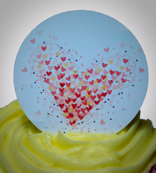 Edible cake toppers decoration - With Love